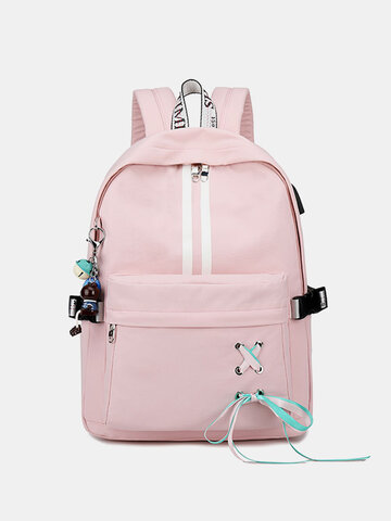 Knotted Reflective Backpack