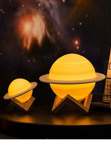 3Dプリント土星ランプスマートホームナイトライト