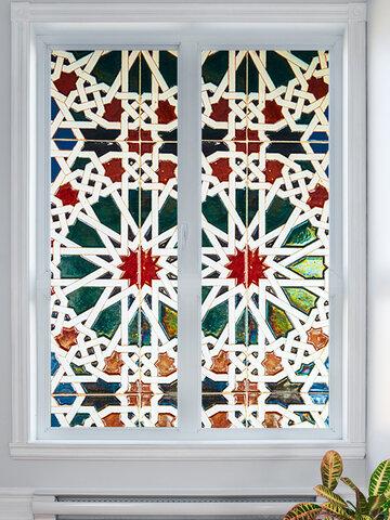 200X77CM 3D Kaleidoscope Stairs PVC Self Adhesive Door Wall Sticker Living Room Mural Decor