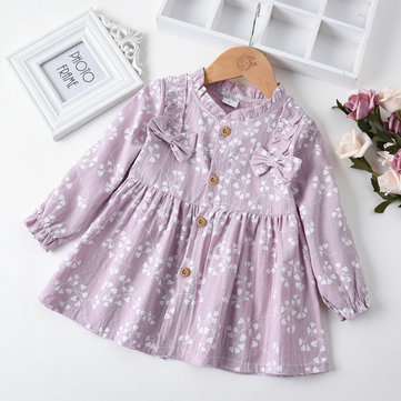 Cute Ruffles Girls Dress For 1-5Y