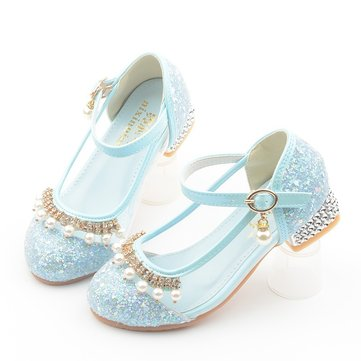 Girls Shining Princess Elegante Kristallschuhe