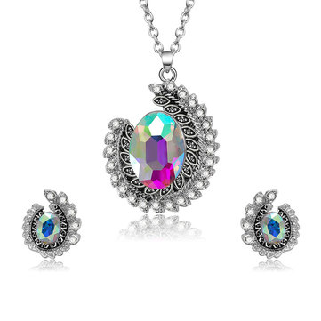 Bunter Strass-Schmuck-Set