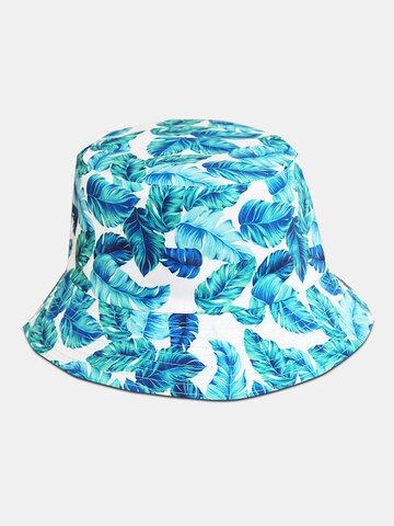 Unisex Eimer Blaue Blätter Hut
