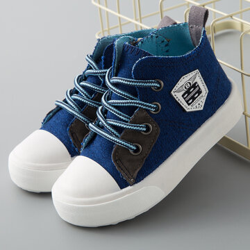 Comfy Side Zipper High Top Canvas Shoes