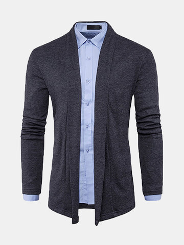 Spring Fall Solid Color Casual Cardigans