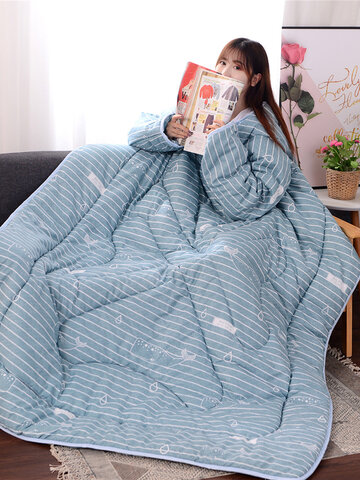 120x160cm Winter Lazy Quilt with Sleeves