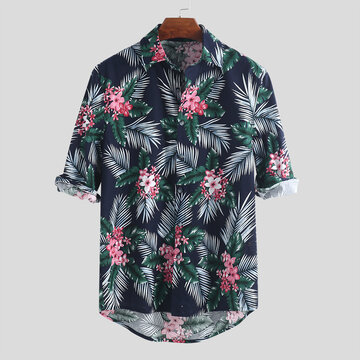Hawaiian Holiday Mens Floral bedruckte Hemden