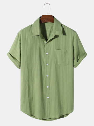 Solid Color Texture Shirts