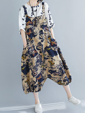 Butterfly Print Jumpsuit Or Dress