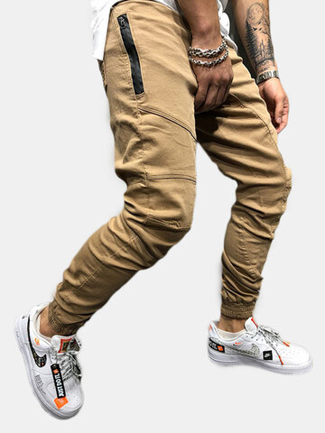Casual Multi Pockets Drawstring Cargo Pants