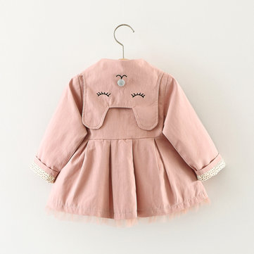 Baby Girls Cute Trench Coat For 6-36M
