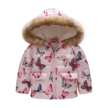 Girls Faux Fur Winter Coat For 2Y-9Y