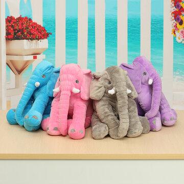 <US Instock>Large Elephant Soft Sleep Pillow Animals Plush Toy For Baby Sleep Cushion
