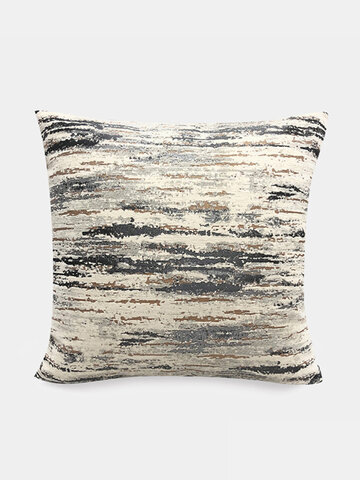 Nordic Texture Yarn-dyed Abstract Jacquard Pillow Bedside Soft Bag Large Backrest Living Room Sofa Cushion Cover