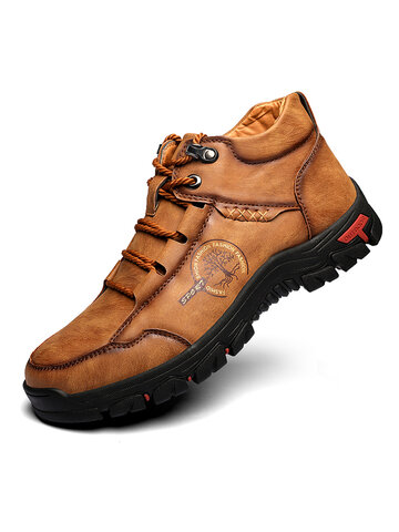 Men Casual Veivet Lining Winter Outdoor Boots