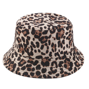 Double-sided Leopard Fisherman Hat