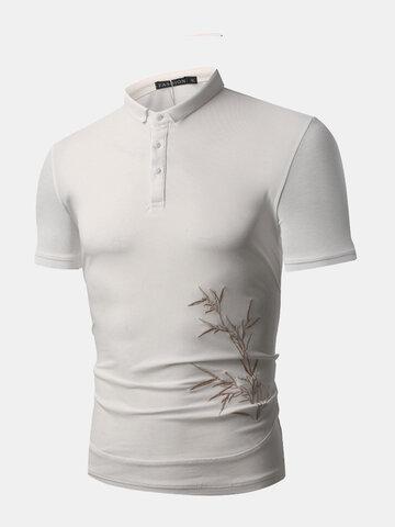 Stickerei Slim Fit Casual Golf Shirt