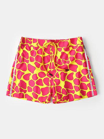 Mesh Line Loose Swim Shorts