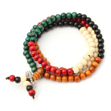 Tibetan Buddhist wooden Prayer Beads Bracelet