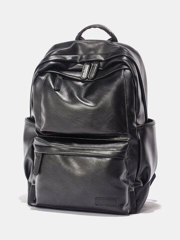 Black Vintage Backpack Travel Bag
