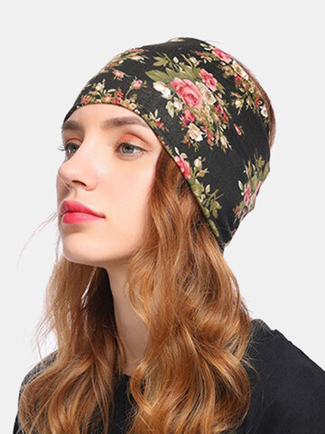 Floral Cancer Chemo Hat Beanie Scarf Turban Head Wrap Cap