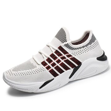Men Knitted Fabric Breathable Sport Sneakers