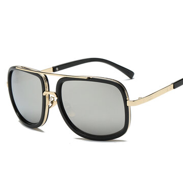 Metal Square Trend Fashion Retro Sunglasses