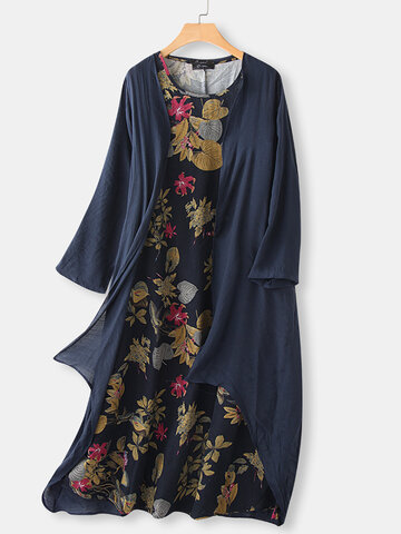 Printed Two Pieces Maxi Dress