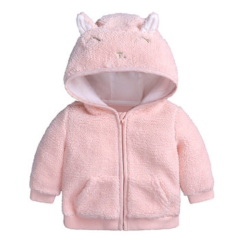 Cute Baby Girls Fleece Coat For 0-36M
