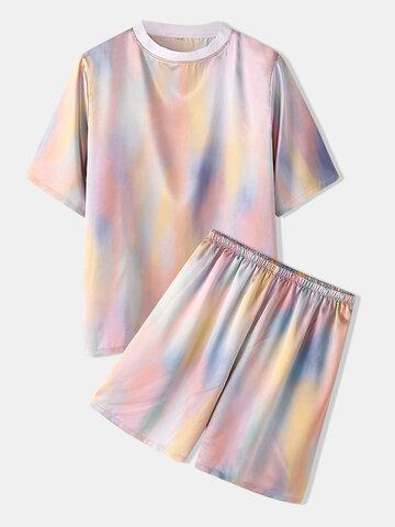Loungewear acolhedor com estampa gradiente