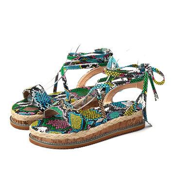 Strappy Platform Casual Sandals