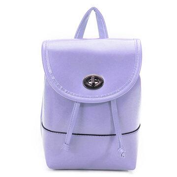 Мода Женское Конфеты Цвет Кожаный рюкзак