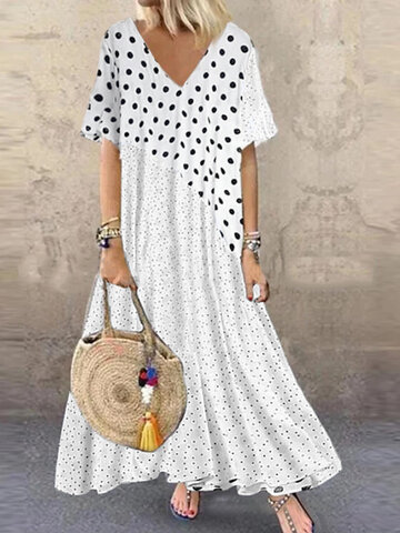 Bohemia Polka Dot Print Dress