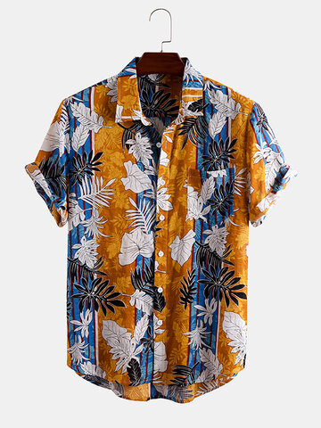 Plant&Leaf Allover Printed Shirts