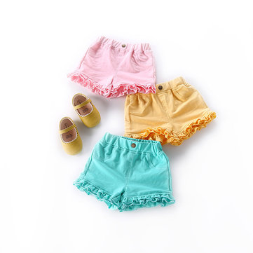 Candy Color Baby Girls Shorts