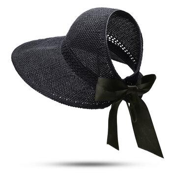 Women UV Protection Straw Hat Wide Brim Bucket Hats