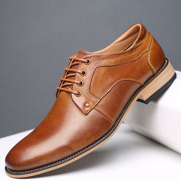 Large Size Men Vintage Genuiner Cow Leather Shoes