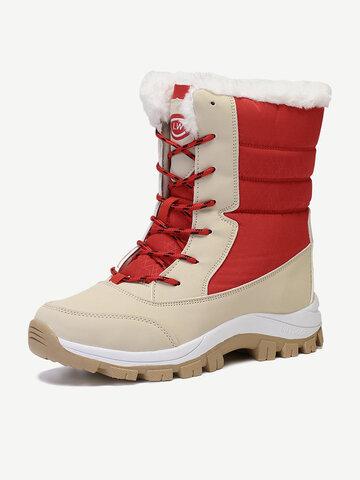 Color Splicing Waterproof Snow Casual Boots
