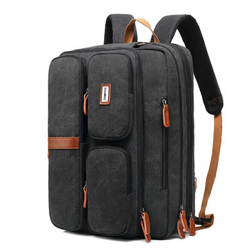 Uomo Multifunzione Laptop Backpack impermeabile Crossbody Borsa