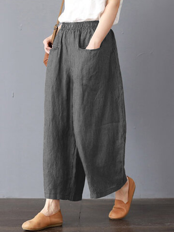 Wide Leg Striped Oversized Pants