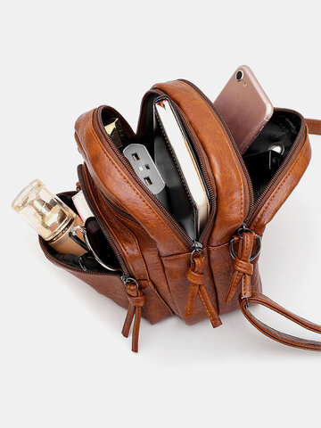 Earphone Hole Anti-theft Crossbody Bag Shoulder Bag
