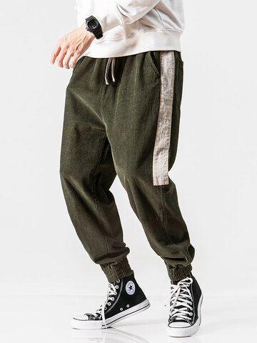 Corduroy Side Stripe Joggers