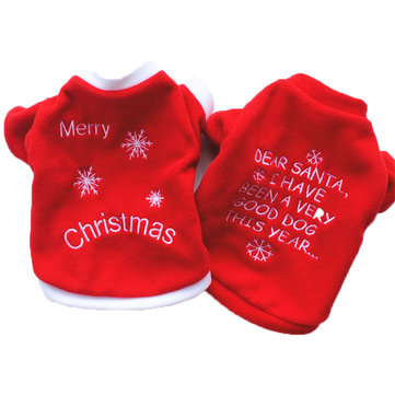 Pet dog warm embroidery Christmas clothing
