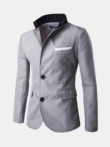 Business Kleid Patchwork Slim Blazer