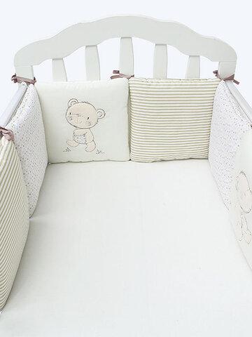 6pcs Baby Säuglingsbett Krippe Stoßstange Sicherheitsschutz Kleinkind Kinderzimmer Bettwäsche-Set