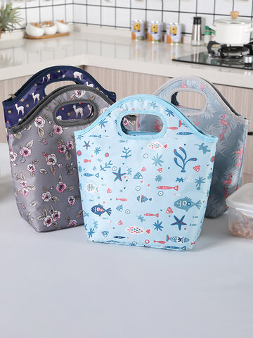 Large Capacity Lunch Bag Insulation Bag With Rice Bag Hand Bag Heat Insulation Bag Handbag Ice Bag Factory Direct Sales