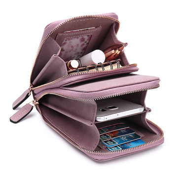 Mulheres Cartão Sólido Bolsa Telefone Bolsa Crossbody Bolsa