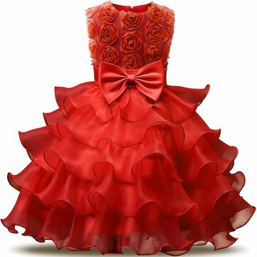 Girls Pleated Princess Dress For 4Y-13Y