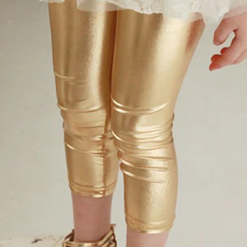 Solid Color Girls Leggings For 4-13Y