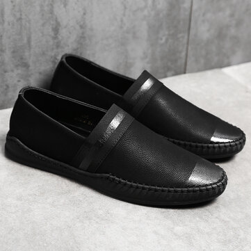 Men Cow Leather Non Slip Casual Loafers
